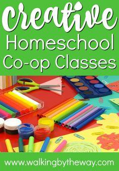 Creative Homeschool Co-op Class Ideas from Walking by the Way