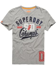 Mens - SD Champs T-shirt in Grey Marl | Superdry