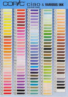 carta colores copic ciao