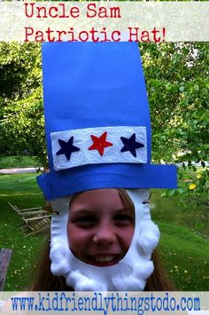 Uncle Sam Patriotic Hat Idea! Too Cute! Great for your Fourth of July party!