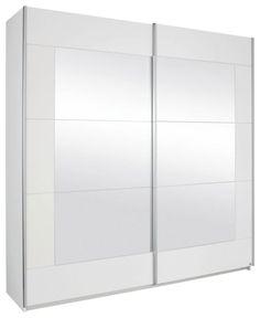 Schwebetürenschrank Quadra schwebetürenschrank quadra spiegel alpinweiß glas weiß
