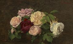 Henri Fantin-Latour: Roses from Nice on a Table, 1882