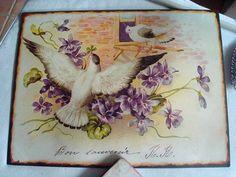 plaque-emaillee-oiseaux-et-violettes
