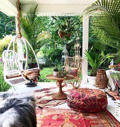 Fleamarketfab™️️ bohemian eclectic modern outdoor porch living