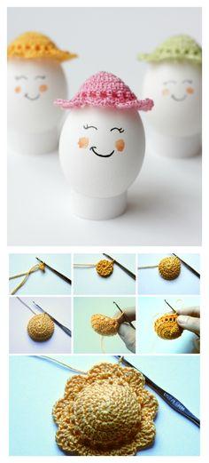 Crochet Easter Egg Bonnets Free Pattern