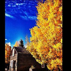 Fall in the mountain town of Frisco, Colorado