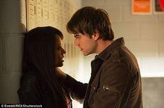 Intense encounter: Graham with Nathaniel Buzolic in a school hallway...