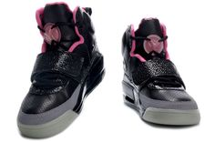 Nike Air Max Shoes Nike Air Yeezy Noctilucence Black Grey Pink [Nike Air Yeezy - Wearing a pair of Nike Air Yeezy Noctilucence Black Grey Pink kicks, you will look quite fascinating. The dominant black perforated upper is breathable for your feet. Air Force Jordans, Nike Air Jordans, Nike Air Max, Nike Shox, Nike Dunks, Tony Parker Shoes, Air Yeezy, Yeezy Shoes, Pink Nikes