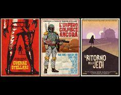 "Star Wars Spaghetti Western Trilogy- 3 Posters (11""x17""). $50.00, via Etsy."