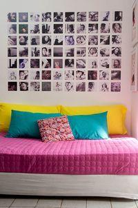 Quarto - mural de fotos                                                       …