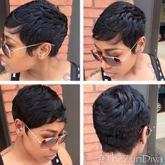 Short Pixie Wigs, Curly Pixie Hairstyles, Short Pixie Haircuts, Short Black Hairstyles, Short Hair Cuts, Short Hair Styles, Pixie Cuts, Braid Hairstyles, 50s Hairstyles