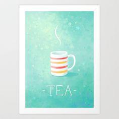 Tea Art Print by Freeminds - $18.72