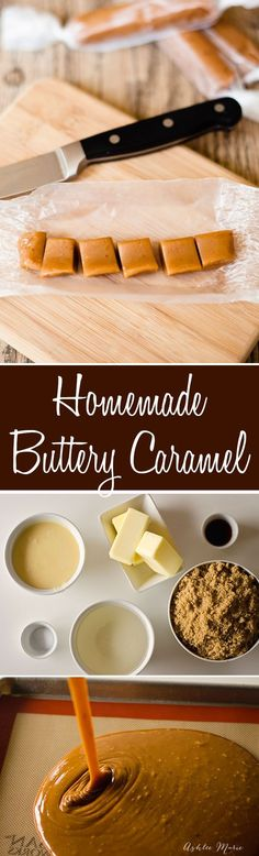 the most amazing buttery homemade caramel recipe you will ever try (Small Chocolate Box) Candy Recipes, Sweet Recipes, Baking Recipes, Snack Recipes, Homemade Caramel Recipes, Homemade Candies, Homemade Caramels, Just Desserts, Delicious Desserts