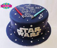 - Star Wars Cake - Ideas of Star Wars Cake - Star Wars Birthday Cake, Dad Birthday Cakes, Star Wars Party, 7th Birthday, Star Wars Cake Toppers, Star Wars Cupcakes, Bolo Star Wars, Aniversario Star Wars, Cake For Boyfriend