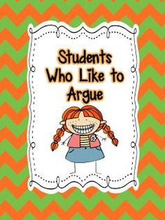 Have you ever had a student who wants to argue with you about everything?  There are times you swear this student is playing devil's advocate because she argues for the sake of argument.  The years that you have one of these students, you go home mentally drained because you are constantly being challenged.  For some great tips read more at:  http://www.teach123school.com/2012/09/have-you-ever-had-student-who-wants-to.html?m=1