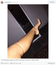 """This Woman Put A Condom On Her Leg To Prove Men Aren't """"Too Big"""" To Wear Them - BuzzFeed News"""