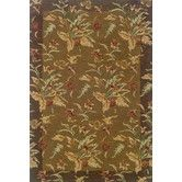 Found it at Wayfair - Yorkshire Hand-Crafted Wool Floral Tan/Brown Area Rug