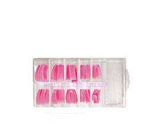 Verniz de Luxo - Caixa Tips Rosa 100 unids