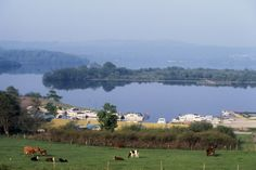 Part of the lower Lough Erne at Killadeas, County Fermanagh - the happiest place to live in the UK