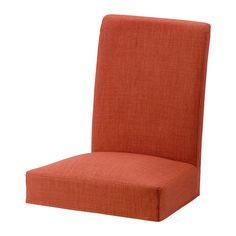 HENRIKSDAL Housse pour chaise, Skiftebo orange foncé
