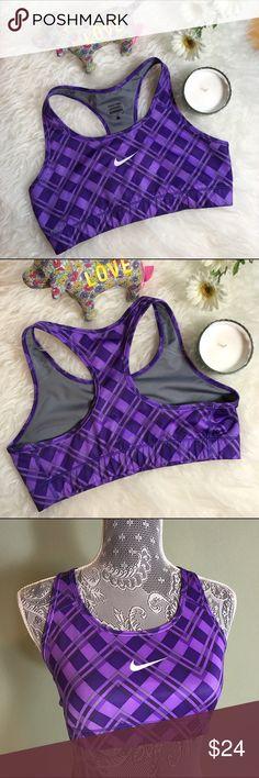 Nike Purple Swoosh Sports Bra! Sz L Nike Purple Swoosh Sports Bra! Sz L Nike Tops Crop Tops