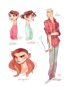 So I read Rainbow Rowell's Fangirl, and it was amazing ! Here are some character portraits :)