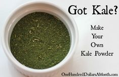 Tired of eating kale everyday? Well if you have boatloads of kale STILL growing in your backyard like I do, turning a couple of batches of fresh kale into kale powder is a snap! Yep, kale powder is pretty much my new best friend. Just don't tell my...