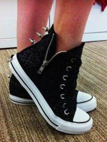 a13cb1f5fd0 I sexed up my Converse sneakers at Schuh Converse Zip