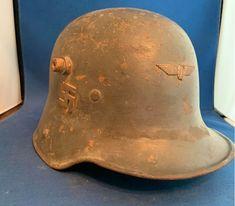 German Helmet, Mumford, Headgear, Helmets, Baseball Hats, History, Helmet, Hard Hats, World War I