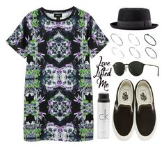 """Sin título #12811"" by vany-alvarado ❤ liked on Polyvore featuring Monki, Vans, H&M, Ray-Ban, Just Acces and Calvin Klein"