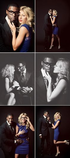 Super stylish, fun, and sexy engagement photo shoot, incredibly powerful photos!