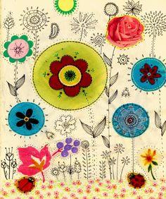 ...Flores... Y qué bueno hubiera sido encontrarnos algún día para entregarnos cuentas de... Quilts, Beads, Flowers, Quilt Sets, Log Cabin Quilts, Quilting, Quilt, Afghans