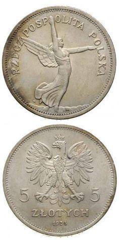 """Poland, 5 Zlotych 1928 """"Nike"""" Silver, Warsaw"""
