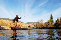 Fall fly fishing in Utah.