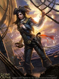Pirata legend of the cryptids  Another great female pirate like my Captain Ringlet Red featured in the book A Tall Ship, a Star, and Plunder