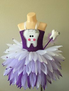 Tooth fairy costume/ fairy costume/ Tooth by JosieJosHeadbands Costumes Avec Tutu, Halloween Tutu Costumes, Toddler Tutu, Toddler Costumes, Tooth Fairy Costumes, Tooth Costume, Rainbow Tutu, Fairy Gifts, Tutu Outfits