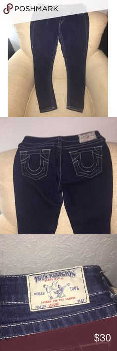True Religion Jeans Size 27. Dark blue True Religion Jeans Straight Leg