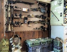 Gun wall. Yes one of those guns is Airsoft.