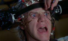 "Cena do filme ""Laranja Mecânica"", de Stanley Kubrick"