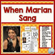 when marian sang is a rich story about marian anderson this bundle includes guided reading