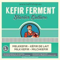 Kefir - melkkefir ferment voor 1 L Kefir Recipes, Tea Recipes, Green Tea Diet, Drinking Tea, Starters, Healthy Snacks, Food, Smoothie, Numbers
