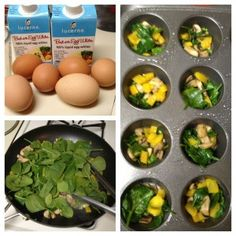 Egg Muffins ~  these muffins provide cleansing vegetables and lean protein and go great with salsa.
