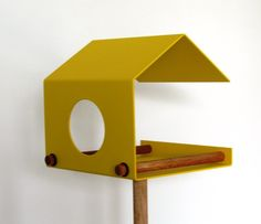Bird feeder - flyby - yellow from art4life by DaWanda.com