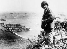 AP photographer Joe Rosenthal, overlooking Iwo Jima in March 1945. (AP Photo/U.S. Marine Corps) #