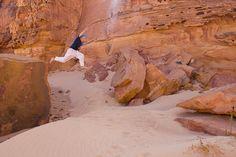 Fun for kids in Egypt's Sinai Desert via http://travelswithanineyearold.com