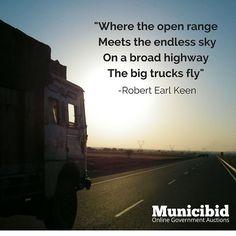 Check out all our great trucks at Municibid.com! #OnlineAuction #Auction #Auctions #Truck #Highway #RobertEarlKeen #VillageInn