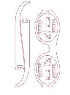 Laser Cut Foldable Wooden Glasses - Home Decor Laser Cutter Ideas, Laser Cutter Projects, Cnc Projects, Laser Cut Wood, Laser Cutting, Corte Plasma, 3d Puzzel, 3d Laser Printer, 3d Cnc