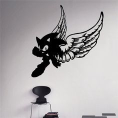 Free shipping Sonic Hedgehog Vinyl Decal Sonic Wall Vinyl Sticker Video Game Cartoons Home Interior Children Kids Room Decor