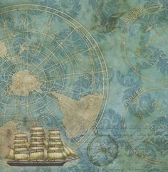 Product Index > Ship Map 12x12 Scrapbooking Paper
