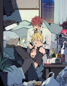 Twitter Manga Art, Manga Anime, Kawaii Doodles, Cosplay Anime, Cute Anime Guys, Cute Gay, Osaka, Kawaii Anime, Art Reference